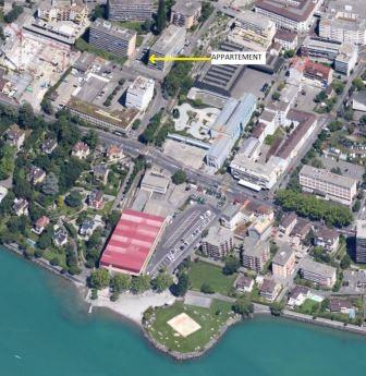 Aerial photo of Montreux